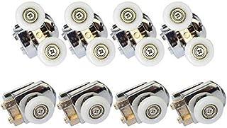 Clarmonde 8 piezas puertas correderas de ducha de 23 mm, rueda superior inferior, rodillos/corredores/ruedas L022,20MM,set of 8