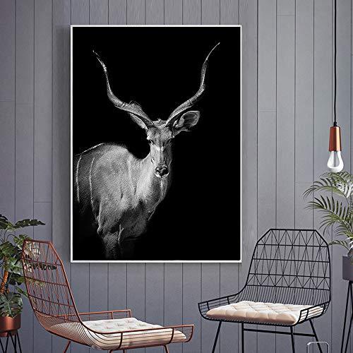 GJQFJBS Schimpanse und Tierdruck Gemälde Wandkunst Poster Leinwand Kunst Bild Wohnzimmer Dekoration Gemälde A2 70x100cm