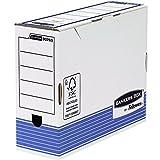 Fellowes Bankers Box - Caja de archivo definitivo automático, A4, 100 mm, 10 unidades, color blanco y azul