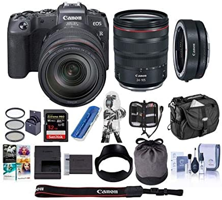 $2199 Get Canon EOS RP Mirrorless Full Frame Digital Camera with RF 24-105mm F4 L is Lens - Bundle Mount Adapter EF-EOS R, 32GB SDHC U3 Card, Camera Case, Cleaning Kit, Pc Software Package, and More