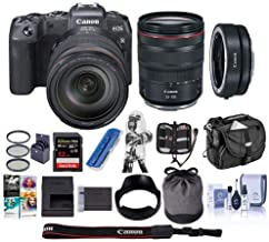 $2298 Get Canon EOS RP Mirrorless Full Frame Digital Camera with RF 24-105mm F4 L is Lens - Bundle Mount Adapter EF-EOS R, 32GB SDHC U3 Card, Camera Case, Cleaning Kit, Pc Software Package, and More