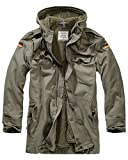 Brandit Men Parka BW Flag, Color:Olive, Talla:52/XL