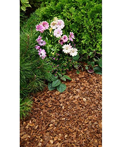 20 l Wooden Bark Chippings 10-20mm Landscaping Garden Surfacing Mulch Play Area Flower Safety