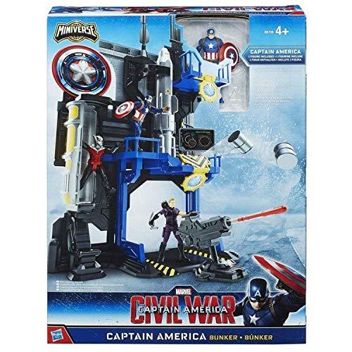 Hasbro Marvel Civil War Capitán América Miniverse Face Off Playset - Capitán América Bunker (B6739)