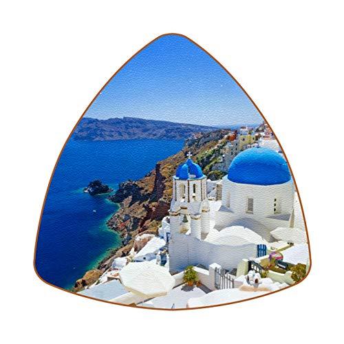 Greece Santorini Juego de 6 Posavasos para Bebidas para el hogar, Taza,...