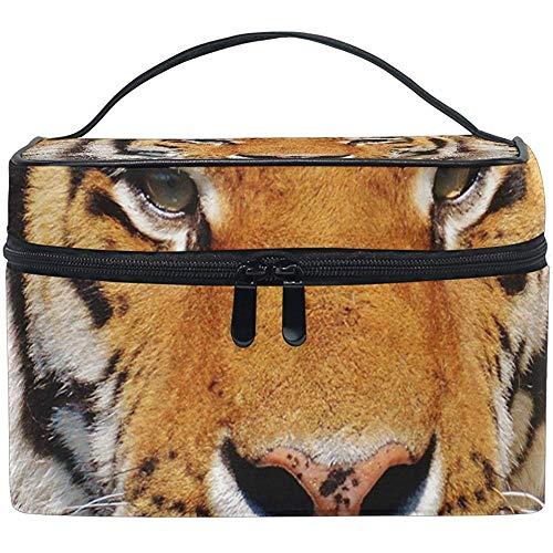 Estuche organizador de bolsa de cosméticos Tiger multifunción maquillaje viaje kit de aseo con cremallera
