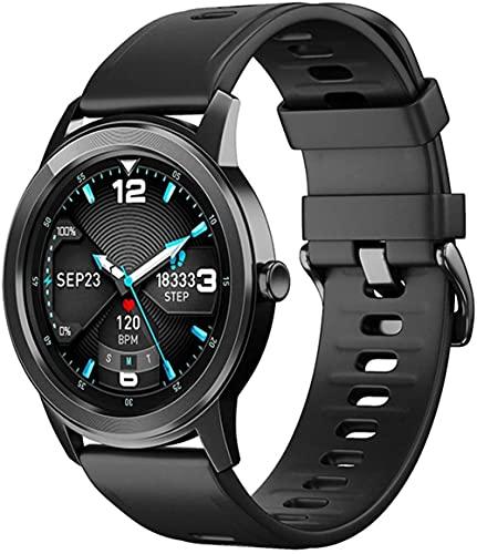 Reloj inteligente, 1.3 pulgadas pantalla táctil completa a color pulsera inteligente, información empuje multifunción Bluetooth reloj deportivo-negro
