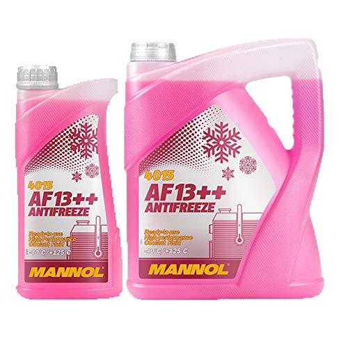 MANNOL 5 + 1 Liter, AF13++ -40°C Antifreeze Kühlerfrostschutz Fertigmischung G13