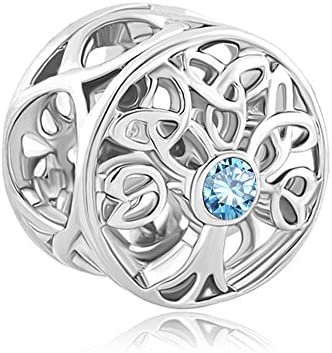 Charmed Craft Crystal Birthstone Charms Filigree Celtic Knot Family Tree of Life Fit Pandora Bracelets
