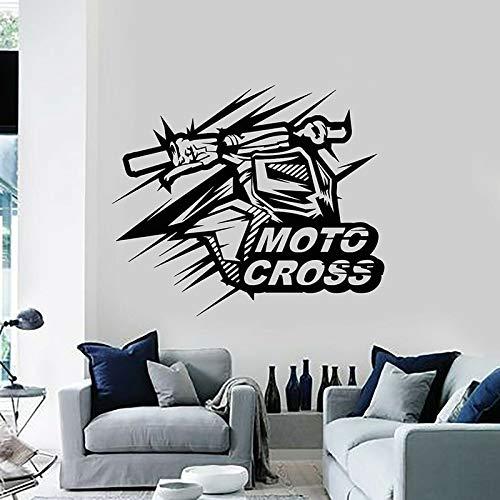 HFDHFH Calcomanía de Pared de Motocross, Velocidad de Motocicleta, Deportes Extremos, Puerta, Ventana, Vinilo, Pegatina, Dormitorio Adolescente, Coche, Club, decoración Interior, Mural