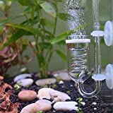 Yagote CO2 Diffuser, 3 Spiro Glass CO2 Diffuser, Glass Reactor for Aquarium Plants, Suitable for Tanks 15-50 Gal/60Liter - 200Liter (CO2 Diffuser-Spiral)