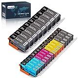 OfficeWorld 525XL 526XL Remplacer pour Canon PGI-525 CLI-526 Cartouches d'encre pour...