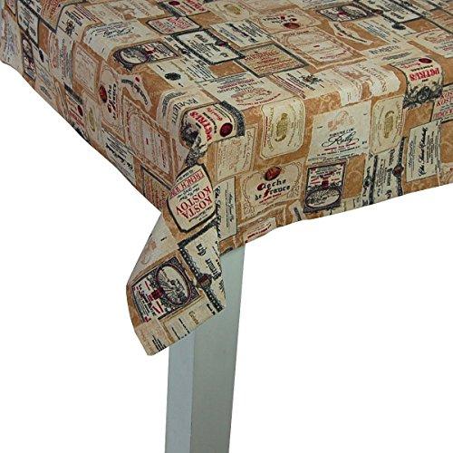 """beties """"Rustika"""" Tischdecke XL Mitteldecke ca. 110x110 cm in großer Artikel-Auswahl für einen gemütlichen warmen Vintage Einrichtungsstil Camel-Burgund"""