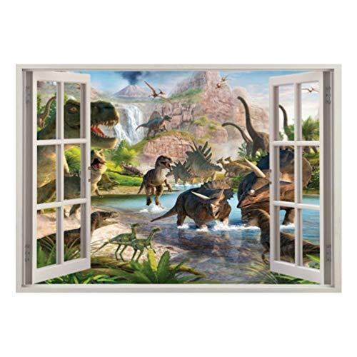 Garneck wandtattoo dinosaurus, behang, muursticker, wanddecoratie, slaapkamer, zelfklevend voor de decoratie van kinderkamers