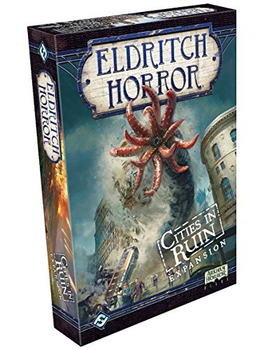 Eldritch Horror Cities in Ruin Board Game EXPANSION | Mystery Game | Cooperative Board Game for Adults and Family | Ages 14+ | 1-8 Players | Avg. Playtime 3 Hours | Made by Fantasy Flight Games