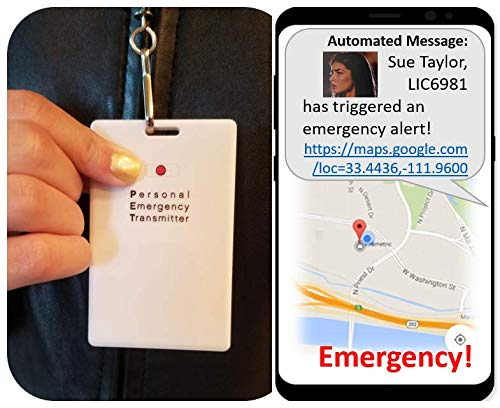 Personal Emergency Transmitter (PET), Wearable Personal Security, one Button Alert System, NO Monthly FEES!