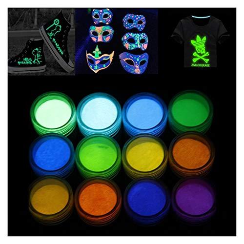 VIAIA Fluorescente Glow-IN-The-Dark Power & Perla Pigment Conjunto DE RESOLA DE LA Resina DE LA RESIÓN DIY Craft 54DC
