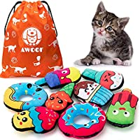 Super Value - 8 unique plush stuffed Donuts toys.Each toy is filled with pure catnip, and we choose the more breathable fabric to allow your cats smell the catmint easily, arouse their interest in play. Durable & Safe - These chew toys are made of so...