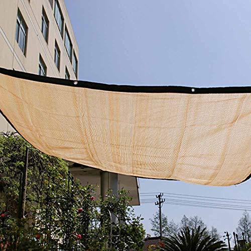 JIESD-Z - Toldo con ojales, tela de malla amarilla de 65 x 13 cm con bloqueo UV 95% de tela de malla amarilla para patio, balcón, entrada, jardín, casa verde