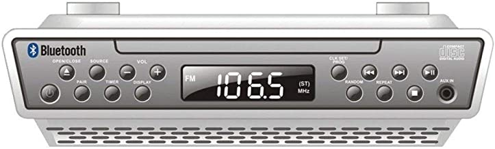 Sylvania Bluetooth Wireless Under the Cabinet CD Kitchen Clock Radio Music System