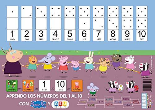 Peppa Pig Láminas Aprendo los Números Del 1 Al 10 | Tamaño A3: Peppa Pig Vocabulario Visual (Material escolar infantil y Educación Especial)