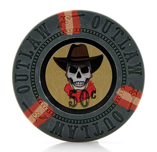 Versa Games Outlaw Clay Poker Chips in 13g - Pack of 50 (Choose Colors) (Silver)