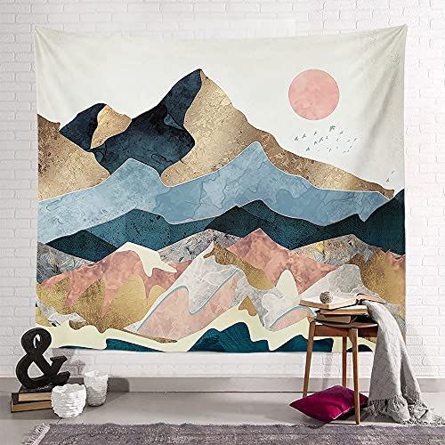 KHKJ Tapiz Sunset Mountain Series Toalla de Playa Decoración de Dormitorio Sala de Estar Familiar Tapiz de Dormitorio Fondo Cintas de Pared A10 150x130cm