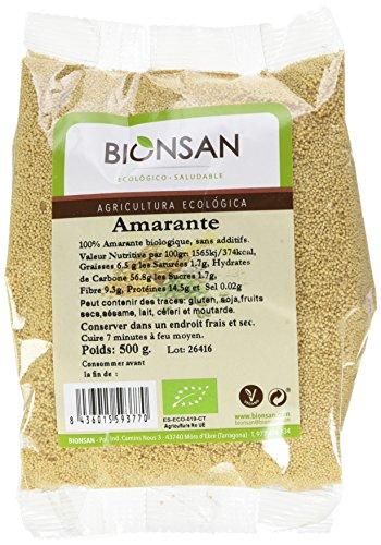 Bionsan - Amarante biologique en grains | 6 paquets de 500 gr | Total : 3000 gr