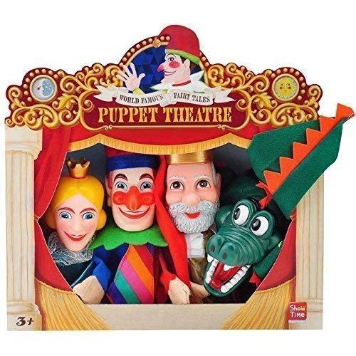 Lively Moments 4 Kasperlpuppen/Handpuppen/Handspielfiguren/Kasperpuppenset/Kasper/Pinzessin/König/Krokodil