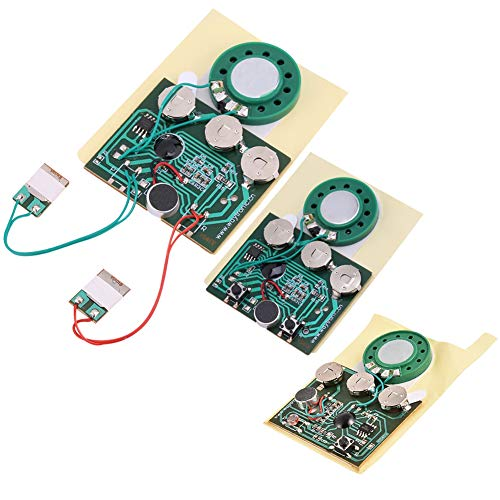 GOTOTOP Voice Module, 30s Recordable Music Sound Playback Module Chip for DIY Musical Gift Christmas Cards, Creative Gift Boxes, Jewelry Boxes, Crafts, Children's Toys(Wired Double Button Control)