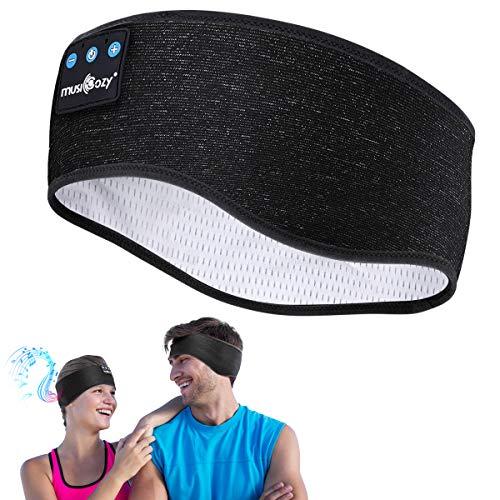 Schlafkopfhörer Bluetooth,Schlaf Kopfhörer 5.0 Bluetooth Kopfhörer Personalisierte Geschenke Sleepphones mit Ultradünnen HD Stereo Lautsprecher,Super Weich Kopfhörer für Sport, Seitenschläfer