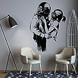Venta caliente graffiti pegatinas de pared para habitación de niños decoración moderna guardería decoración de interiores pegatinas de pared A9 58X81CM