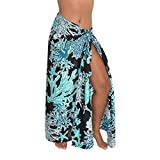 Starfish Coral Sarong Swimsuit Coverup Pareo BeachWrap Scarf Shawl Stall Black/Teal Green