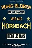Ruhig bleiben keine Panik wir aus HORNBACH regeln das: Notizbuch | Journal | Tagebuch | Linierte Seite (German Edition)