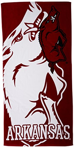 "The Northwest Company Officially Licensed NCAA Arkansas Razorbacks Colossal Oversized Beach Towel, 34"" x 70"", Multi Color"