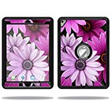 MightySkins Skin Compatible with OtterBox Defender Apple iPad Pro 9.7 Case wrap Cover Sticker Skins Purple Flowers