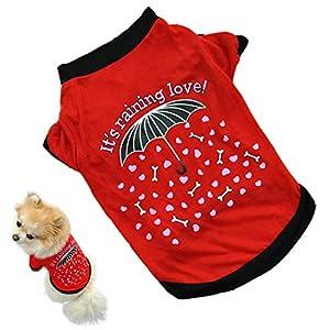 Chien pour Homme en été pour chien Pet chiot vêtements Cozy Gilet Vêtement T-shirt pour Chien en Coton pour petit chien