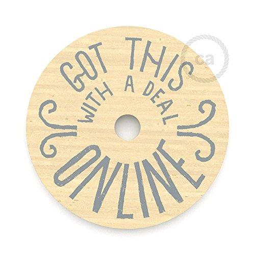 Le Palle Volanti. Lampenkap van hout, aan beide zijden bedrukt – Got This with a Deal Online? + Trippy-patroon.
