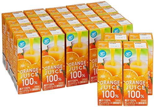 [Amazonブランド]Happy Belly オレンジ ジュース 100% 200ml×24本