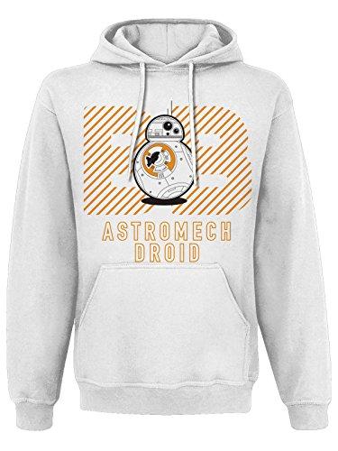 Star Wars 7 - Sweatshirt Astromech Droid Hoodies - Blanc (XXL)