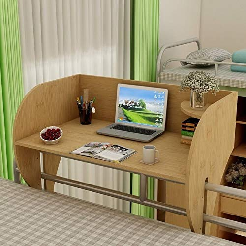 Qgg Overbed Table Laptop Desks Suspended Bed Table of College Students' Dormitory Dormitory Artifact with Impending Laptop Table Table Lazy Desk Collect B (Color : Model 7)
