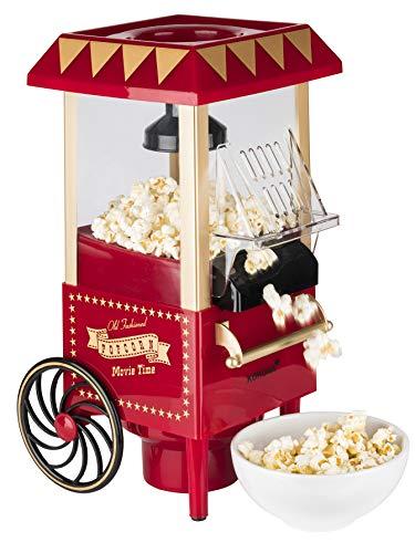 Korona 41100 Macchina per popcorn | Design retrò | Produzione senza olio grazie al processo ad aria calda | Facile da pulire | 1200 watts max.