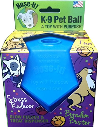 Nose-It K-9 Pet Ball Flex Blue A Toy with Purpose