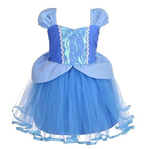 Lito Angels Baby Mädchen Prinzessin Cinderella Kleid Kostüm Weihnachten Halloween Party Verkleidung Karneval Cosplay 12-18 Monate