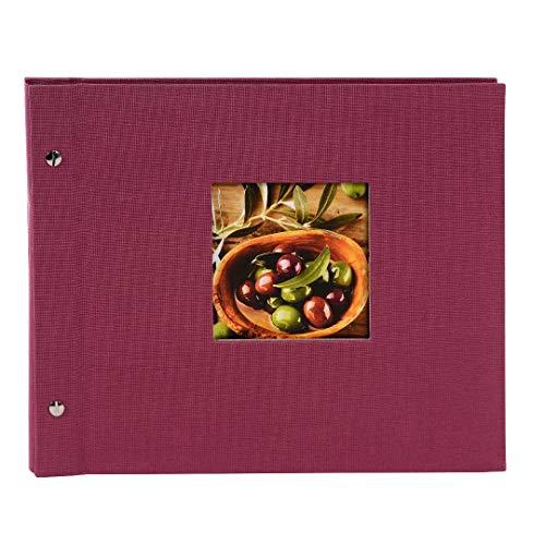 Goldbuch Schraubalbum mit Fensterausschnitt, Bella Vista Trend, 30 x 25 cm, 40 schwarze Seiten mit...