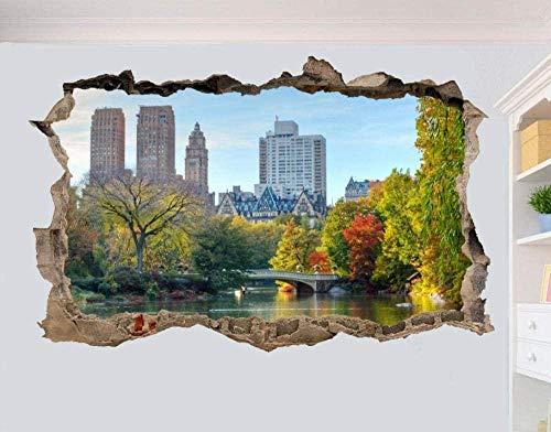 MXLYR Pegatinas de pared Central Park Wall Sticker 3D Art Poster Mural Decoración