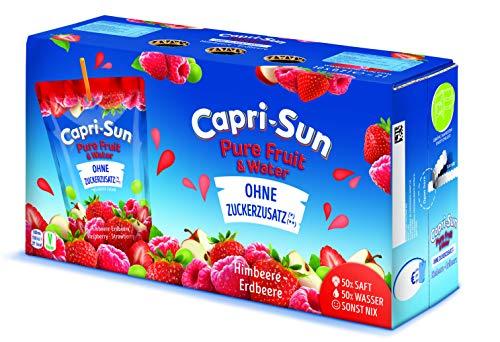 Capri-Sun Pure Fruit & Water Himbeere-Erdbeere, 1er Pack (10 x 200 ml)