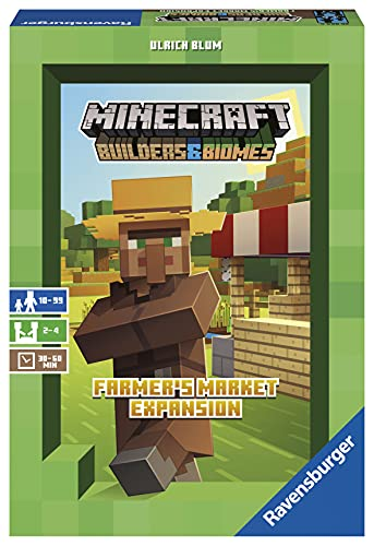 Ravensburger Minecraft: Builders and Biomes - Farmer's Market Expansion Strategy Board Game Ages 10 and Up - Amazon Exclusive
