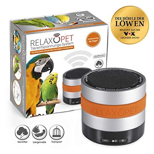 RelaxoPet Tierentspannungs-Trainer | Version für Vögel | Beruhigung durch Klangwellen | Ideal bei Gewitter, Feuerwerk oder auf Reisen | Hörbar und unhörbar | 5V, kabellos