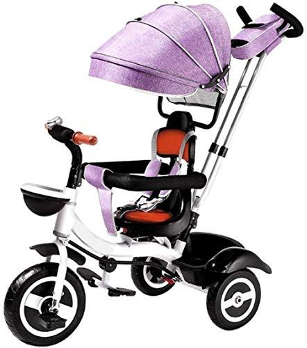 Multifunktionaler Kinderwagen, stoßfest, kompakter Dreirad-Trolley, faltbare Fußstütze, Schultergurt